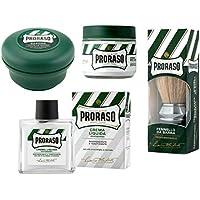 Blaireau à raser Proraso + Crème Avant Rasage Proraso + Savon à raser Proraso + Baume après rasage Proraso sans...