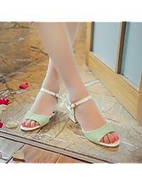 zhENfu Sandales femmes Été Automne Chaussures Club Confort Chaussures similicuir PU Nouveauté Bureau extérieur &AMP; partie de carrière &AMP; tenue de soirée Casual