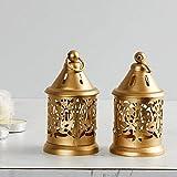 Antique Collection Raga-Manthan Round Hanging Lantern - Set of 2 Pieces - Gold