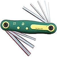 GOOFIT pieghevole esagonale esagonale a brugola chiave set cacciavite Tool Kit 1.5- 8mm 9608C