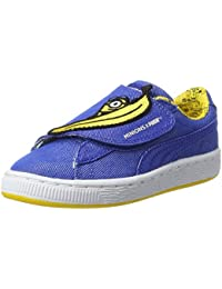 Puma Unisex-Kinder Minions Basket Wrap Statement Denim PS Sneaker