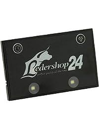 Ledershop24 LED Licht Bag Spot für Kellnerbörse Kellner Kellnergeldbörse Geldbörse Kellnergeldbeutel Bedienungsbörse Damentasche Handtasche Tasche