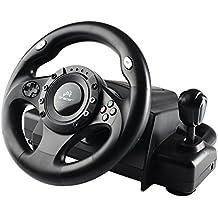 Volant de course avec pédales PC PS2 PS3 USB gaz frein pédales Vibration Feedback Roue de course