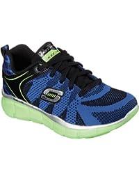 Skechers–Equalizer Quick Track, Zapatillas deportivas para niños y jóvenes, negro (negro), 27.5