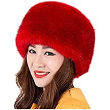 a222a13f4ab5d Fortuning s JDS Sombrero de invierno del estilo ruso de la piel falsa de  las mujeres sombreros