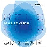 D'Addario Bowed Corde seule (Ré) pour contrebasse hybride D'Addario Helicore, manche 3/4, tension Heavy
