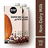 Raw Pressery 100 % Natural Almond Milk Cacao 1 LTR (Pack of 2)