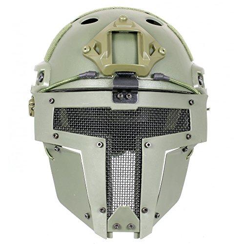 Fast Helm mit Spartan Maske Olive ()