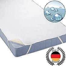 Beautissu® Protector cubre colchón Molton BEAUTECT - incontinencia - 4 gomas en las esquinas - Blanco - 160x200 cm
