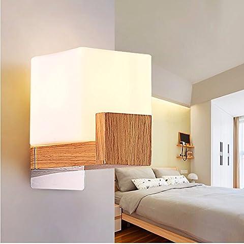 Winson Lampade da parete retrò American Country Manor Restaurant moderno minimalista Scala di luce creativo letto in legno , DELLE LUCI DI TESTA SINGOLA