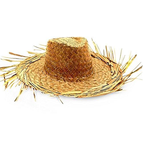 Strohhut Hut mit Fransen geflochten Einheitsgröße
