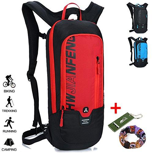 Imagen de  impermeable para correr en bicicleta senderismo ciclismo de montaña esquí de snowboard,  transpirable para deportes al aire libre camping / 10l rojo
