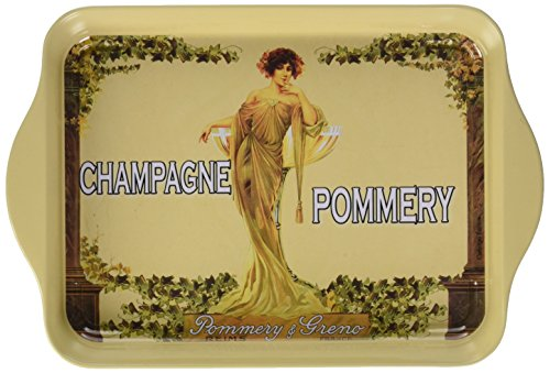 Cartexpo P10610 Alimentation Mini Plateau Champagne Pommery Métal
