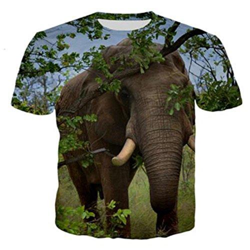 Hagyh Amantes, Camisetas, Elefantes Lindos, Parejas 3D, Camisetas Y Mangas Cortas, Color...