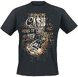 Johnny Cash Lyrics T-Shirt schwarz M