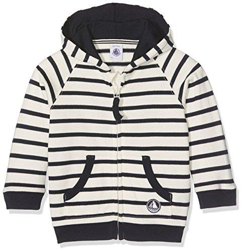Petit Bateau Baby-Jungen Kapuzenpullover Sweat Shirt à capuche_22952, Mehrfarbig (Coquille/Smoking 63), 92 (Herstellergröße: 24m/86cm) (Jumper Petite)