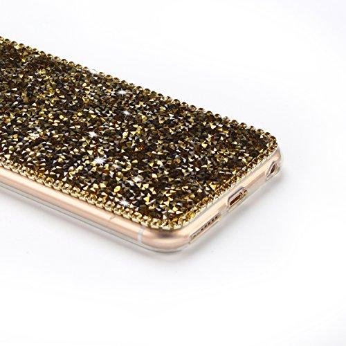 Coque iPhone 6 Plus , TPU Étui iPhone 6S Plus , Mickey Motif Mode Glitter Bling Étui Silicone Souple Housse Caselover Etui Coque TPU Slim pour Apple iPhone 6 Plus / 6S Plus (5.5 pouces) Mode Flexible  Or
