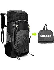 Aodoor 35 L Faltbarer Wasserdicht Rucksack, Ultralight Outdoor Wanderrucksäcke für Camping, Reisen, Fahrrad Schulter Rucksack
