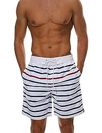 Guiran Hombre Bañadores De Natación Traje De Baño Pantalones Corto Playa Piscina Imprimió Transpirable Surf Shorts 1 L