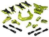Integy RC Model Hop-ups C25482GREEN Billet Machined Suspension Kit for Traxxas 1/10 Nitro Slash 2WD