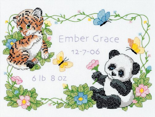 dimensions-stamped-cross-stitch-kit-baby-animals-birth-record