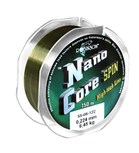 Robinson® Nano-Core Spin Angelschnur, Länge / Durchmesser / Tragkraft:0.18/150m -