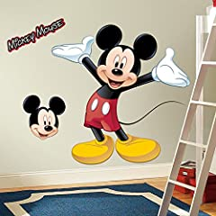 Idea Regalo - RoomMates, Adesivo da parete, motivo: Mickey Mouse