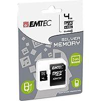 Emtec Carte Mémoire micro SDHC Classe 4 4 Go EliteSilver Performance