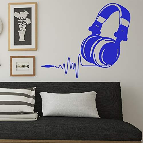 Modeganqingg Cartoon haube abnehmbare PVC wandaufkleber Wohnzimmer unternehmen Schule büro Dekoration Nordischen Stil Dekoration blau M 28 cm X 33 cm - Professionelle Wand-haube