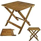Beistelltisch Klapptisch Holztisch Gartentisch Kaffeetisch Bistrotisch Balkontisch Serviertisch aus Akazienholz Tisch Garten 45 x 45 x 45cm braun