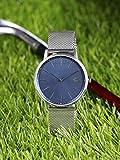 Lacoste Armbanduhr, minimalistisches Design, Silber, blaues Ziffernblatt