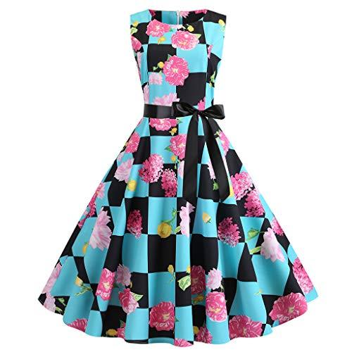 �Rmelloses Elegant 50er Jahre Petticoat Kleider Gepunkte Rockabilly Kleider Cocktailkleider Partykleid Ballkleid Festkleid ()