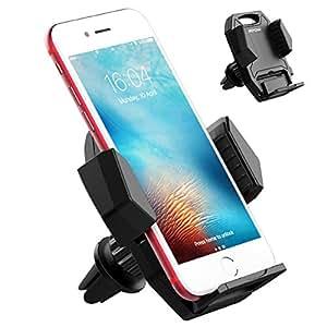 Supporto Auto Smartphone Mpow Supporto Bocchetta dell'Aria Auto Montare Titolare Regolabile Supporto Air Vent Mount Supporto Auto, Porta Smartphone Universale per iPhone 7 / 7 Plus,6s/ 6s Plus, Google Pixel, LG G6, Huawei P9 / P9 Plus, Galaxy S8 ecc