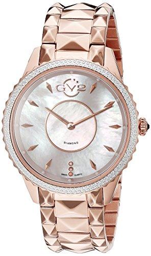 GV2by Gevril Damen-1701Carrara Analog Display Swiss Quartz Rose Gold Watch