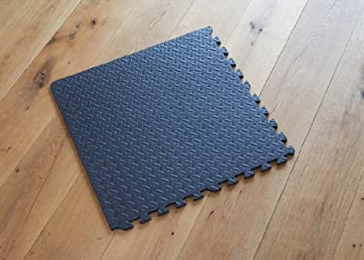Interlocking Gym Garage Anti Fatigue Flooring Play Mats 48sqft D- easimat branded - inexpensive UK flooring shop.