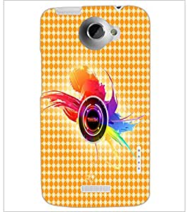PrintDhaba Random Design D-4859 Back Case Cover for HTC ONE X (Multi-Coloured)