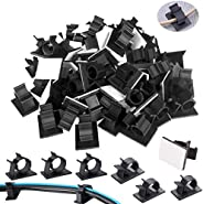 Cable Clips, 500 PCS Cable Management Clips, Adhesive Cable Clips with Strong Adhesive Tapes, Adjustable Car C