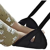 Meyoung portatile poggiapiedi regolabile viaggio pieghevole resto del piede Lounger Leg Amaca per la corsa Home Office Carry-on Volo rilassante accessorio Hang poggiapiedi