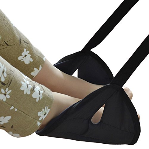 Meyoung Portable Travel Footrest Adjustable Folding Foot Rest Lounger Leg Hammock for Travel Home Office Carry-on Flight Relaxing Hang Footstool Travel accessory