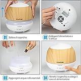 Innoo Tech Aroma Diffuser 500ml Öl Luftbefeuchter Ultraschall Humidifier Holzmaserung LED mit 7 Farben für Babies Kinderzimmer, Auto, Wohnzimmer, Schlafzimmer, Büro, Yoga, Spa, Raum usw - 6