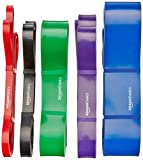 AmazonBasics Resistance and Pull Up Band, Resistance 29.5 to 79.4 kg (6.35 cm wide)