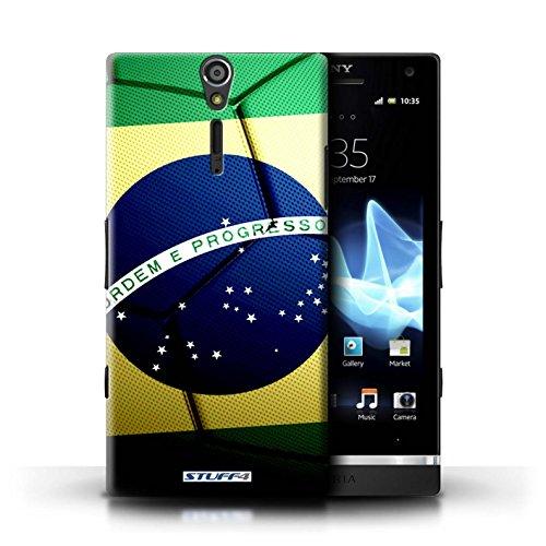 Kobalt® Imprimé Etui / Coque pour Sony Xperia S/LT26i / Italie/Italien conception / Série Nations de Football Brésil/Brésilien