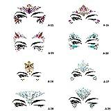 Strass Gesicht Sticker Augen Sticker DIY Bindi Gesicht Schmuck Super glänzende Stirn Sticker (A-19)