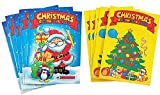 W F Graham & Libetui 10 Weihnachten Malbücher Winter Mini Malbuch DIN A6 (14,8 x 10,5 cm) Mitgebsel Geschenk für Kinder Weihnachtsfeier
