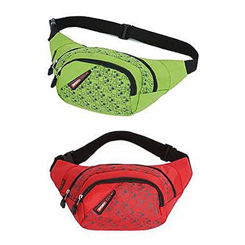 51a 8S4JkbL. SS500  - Set of 2 High-grade Bright Color Sports&Outdoor Pockets Waist Packs (Green/Red)