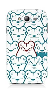 Amez designer printed 3d premium high quality back case cover for Samsung Galaxy Grand i9082 (Picture bear emotions blue red)
