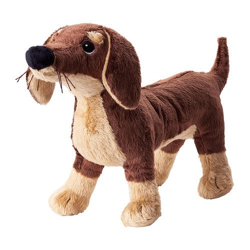 Ikea SMASLUG - Soft toy, dog, brown - 72x40x108 cm