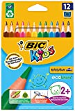 BIC Kids Evolution Triangle ECOlutions Colouring Pencils, Pack of 12