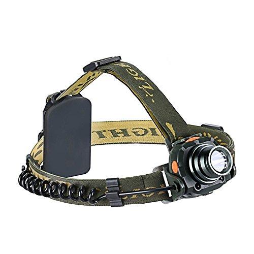 STCT Wasserdichte Stirnlampe, REE XP-E R3 LED Kopflampe Perfekt zum Laufen, Wandern, Camping, Lesen, Wandern, DIY Arbeit (3W, 3 AAA Batterien und USB Kabel im Lieferumfang enthalten)