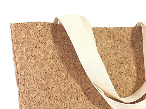 große braune Tasche aus Kork, veganer Shopper - 4
